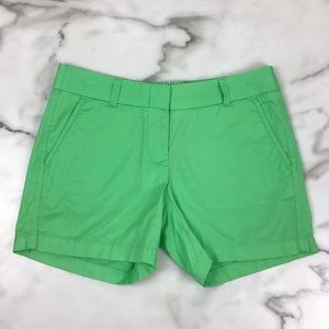 J. Crew Green Chino Classic City Fit Shorts